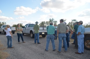 TPWD and NRCS staff meet with Texas State University researchers at Caprock Canyons State Park in September, 2015.